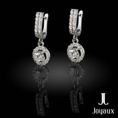 Diamond Dangle Earrings in 18k White Gold (approx. 1,65 ct. tw.) Diamond Dangle Earrings, Natural Gemstones, Dangles, Jewelry Making, White Gold, Jewellery Making, Make Jewelry, Diy Jewelry Making
