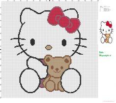 Hello kitty avec ours en peluche