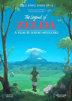 Studio Ghibli/Zelda crossover coverart