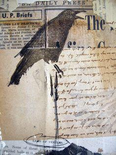 The Secret Bird - ORIGINAL mixed media artwork
