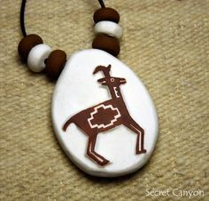 Southwestern Ancient Pottery Style Tribal Artifact Pendant - Clay Mimbres Antelope Necklace ~SECRET CANYON~ http://www.amazon.com/dp/B00KE8WWQS/ref=cm_sw_r_pi_dp_OIShub0H8JW3E