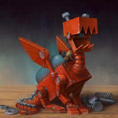 ArtStation - Tiny Dragon, Yigit Koroglu