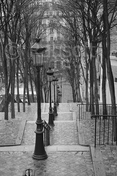 Rue Foyatier in monochrome. I will photograph this next year while in Paris