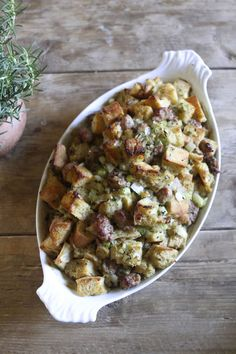 Classic Sage and Sausage Stuffing | Eat • Drink • Garden • Santa ...