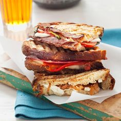 Caramelized Onion and Goat Cheese Panini Recipe -- Don't reserve the grill just for dinner. Assemble these delicious appetizer or lunch paninis and make them hot and crunchy on the grill with a simple side salad. #myplate #protein #grain #vegetables
