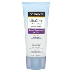Neutrogena Ultra Sheer Dry-Touch Sunscreen Broad Spectrum SPF 55 ($7): This no-frills favorite is well-loved for good reason—it protects skin without weighing it down. While this might be something you only reach for on pool days, make it a part of your daily routine by massaging a dime-sized amount into your face before applying makeup. It gives off a matte, never shiny, finish and it's PABA free and non-comedogenic so it'll never clog your pores.