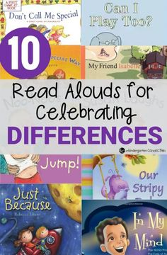 These 10 read alouds encourage celebrating differences, and are great as read alouds with children to teach them about disabilities, differences, and acceptance.