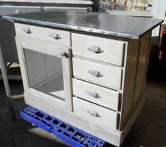 transformation d'un bureau en ilot de cuisine relooké par Bastide Creations sur Rue des Relookeurs