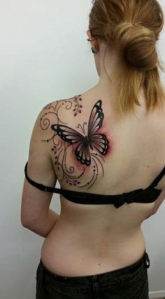 Butterfly Tattoo could be inked on different parts of the body! Enjoy the gallery!