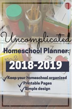 Finally! A homeschool planner with fewer fluff pages and more planning pages. The Uncomplicated Homeschool Planner is beautifully designed in full color. It can be printed in grayscale as well and not lose any of its beauty. Simply created for the homeschooler who needs a planner to help keep track of field trips, instruction days, goals and much more. School Hacks, School Ideas, Kindergarten Readiness, Charlotte Mason, Field Trips, Home Schooling, Organizer, Little People, Teacher Appreciation