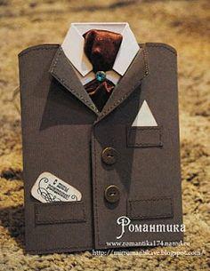 Romantic: Elegant men's card for true gentlemen