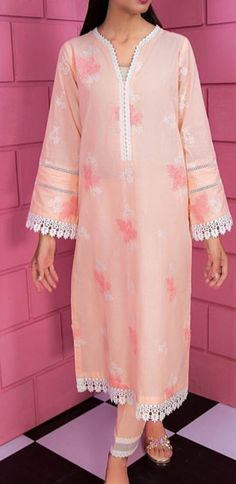 Neckline Designs, Dress Neck Designs, Kurti Neck Designs, Kurta Designs Women, Stylish Dress Designs, Beautiful Pakistani Dresses, Pakistani Dress Design, Peach Dresses, Simple White Dress