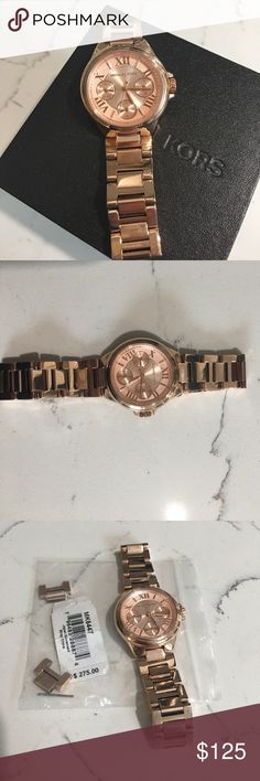 Michael Kors watch Rose Gold Michael Kors Watch. Brand new. Had it sized but has never been worn. Extra links included. Michael Kors Accessories Watches