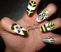 arte, desenho, esmalte, lindo, nail, unha, nail art, nail polish, tribal nails, summer nails, nailpolishdistraction, nail polish distraction...