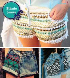 customizar saia jeans - Pesquisa Google