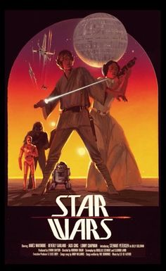 """#starwars  recklessishe: """" ANH: Yet another Ralph McQuarrie concept poster for Star Wars. The interesting thing about this poster is that you can clearly make out the names at the bottom: James Whitmore, Beverly..."""