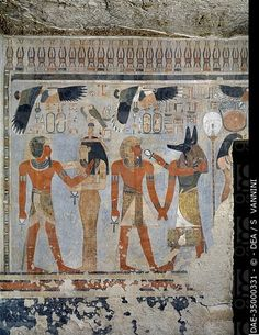 Egypt, Thebes (UNESCO World Heritage List, 1979) - Luxor. Valley of the Kings. West Valley. Tomb of Amenhotep III. Antechamber to burial chamber.