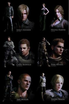 Resident Evil 6 Poster Reveals Six Heroes