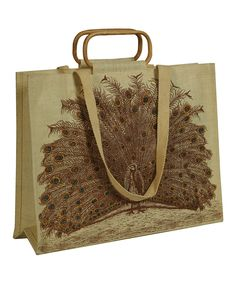Loving this Peacock Tote on #zulily! #zulilyfinds