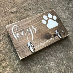 Your place to buy and sell all things handmade Diy Dog Shampoo, Paracord Dog Leash, Dog Organization, Dog Leash Holder, Dog Crafts, Wooden Crafts, Wood Dog, Key Hooks, Dog Signs