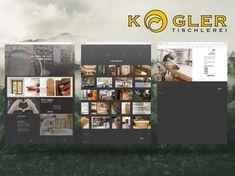 Branding   Webdesign   KATJA KOMMT - AGENTUR FÜR BESSERE KOMMUNIKATION www.tischlerei-kogler.at www.katjakommt.at Web Design, Desktop Screenshot, Photo Wall, Frame, Home Decor, Carpentry, Communication, Weaving, Projects