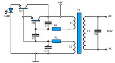 schematic inverter 6V to 220V