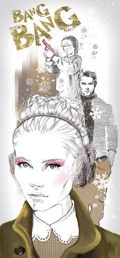 Teen magazine illustration by Svetlana Ihsanova, via Behance
