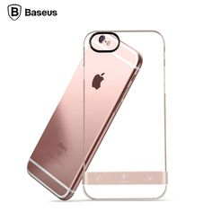 Baseus Fashion PC+Metal Full Back Cover Shell for iPhone 6 Case Phone Case 4.7 inch Luxury Brand Cover for iPhone 6s Case i6 i6s