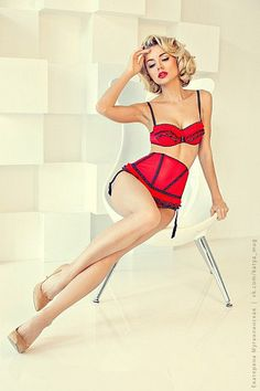 Valentines Day lingerie set: Bra by CarlaCatherina on Etsy