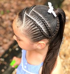 Lil Girl Hairstyles, Cute Hairstyles For Kids, Ponytail Hairstyles, Hair Ponytail Styles, Braid Styles, Crazy Hair Days, Natural Hair Styles, Long Hair Styles, Glam Hair