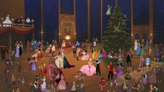 This took forever! Merry Christmas, Happy Holidays, Happy Hanukkah and every other thing people say and celebrates. Christmas at the castle Cute Disney, Disney Art, Disney Pixar, Disney Stuff, Disney Characters, Forgotten Disney Princesses, Kiss Meme, Disney Romance, Jim Hawkins