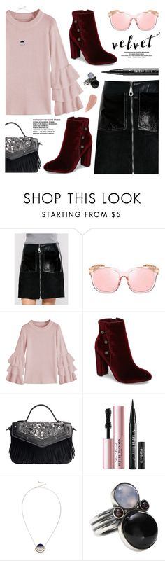 """Velvet style"" by yexyka ❤ liked on Polyvore featuring Nina, Too Faced Cosmetics, Bottega Veneta and Kevyn Aucoin"