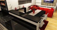 sala de estar sala de jantar cozinha  - Galeria de Projetos Promob