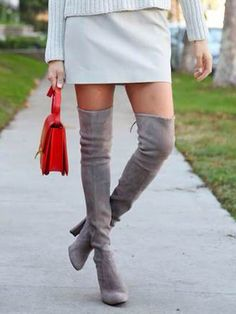 1e5ac1aaa91 37 Best Gray Over the Knee Boots images