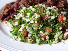 One Mother Hen: Brown rice and quinoa tabbouleh Quinoa Tabbouleh, Brown Rice, Kitchen Recipes, Cobb Salad, Food, Eten, Meals