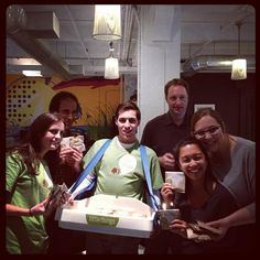 The Swarm Car delivering cookies to Flightpath in NYC & making their day a little brighter.