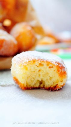 Easy Express Donut Recipe · To the palate delights Churros, No Cook Desserts, Dessert Recipes, Donut Recipes, Cooking Recipes, Sweet Cooking, Bread And Pastries, Mediterranean Recipes, No Bake Cake