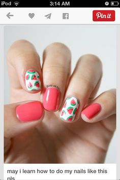 Funky nail art for the summer