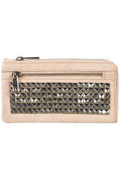 Premium Leather Stud Purse - Bags