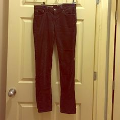 Corduroys from Adriano Goldschmieo From a very expensive store in NYC! Only worn 3 times and no damage what so ever. I would really like to find someone who is willing to pay $50-$-60 on them because they are such good pants and very high end. When it's cold out thaws are the pants you want to turn to. Warm and stylish is the way to go. The cut of the pants are straight leg. Adriano Goldschmied  Pants Trousers