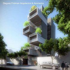 Arquitectura de Casas: Nuevos edificios de departamentos en barrios urbanos.