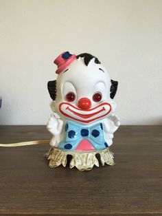 A personal favorite from my Etsy shop https://www.etsy.com/listing/479968182/clown-figurine-night-light-aladdin