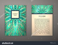 Flyer With Floral Mandala Pattern And Ornaments. Vector Flyer Oriental Design Layout Template, Size. Islam, Arabic, Indian, Ottoman Motifs. Front Page And Back Page. Easy To Use And Edit. - 417324172 : Shutterstock