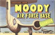 Greetings From Moody Air Force Base Georgia Large Letter