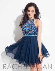 Rachel Allan 4013 Navy Homecoming Dress