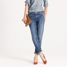 I don't care what anyone says....I LOVE boyfriend jeans and a regular ol' wash.