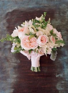 Need a bridal bouquet inspiration for your wedding? Consider the white bridal bouquet. While we love scoping out all of the innovative floral designs that are out there, a white bouquet will forever be timeless. Bridal Bouquet Pink, Blush Bouquet, Blush Wedding Flowers, Blush Pink Weddings, Bride Bouquets, Bridal Flowers, Floral Wedding, Trendy Wedding, Flower Bouquets
