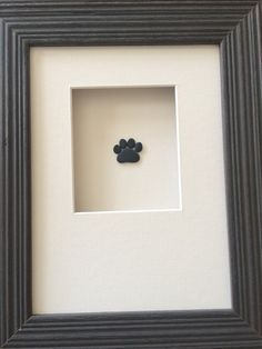 6 by 8 puppy paw print by sharon nowlan by PebbleArt on Etsy