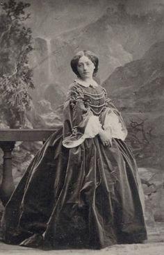 Princess Marie of Leiningen, neé Princess of Baden. 1860s.