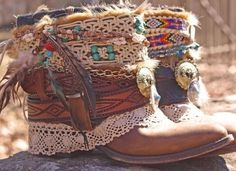 boho recycle boots